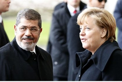 German Chancellor Angela Merkel and Egyptian President Mohammed Morsi