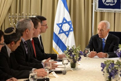 President Peres with Likud-Beitenu Representatives