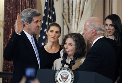 John Kerry sworn-in as Secretary of State by Vice President Joe Biden