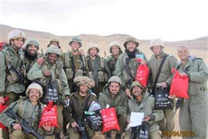 ZOA distributes mishloach manot to IDF solldiers