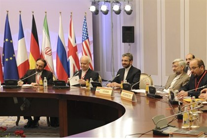 Members of the Iranian delegation to the nuclear talks with the P5+1