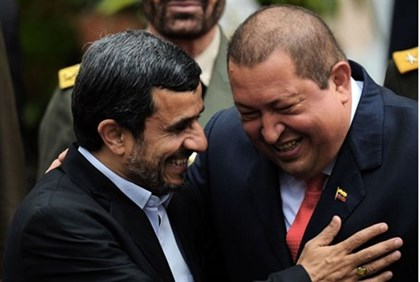 Hugo Chavez and Mahmoud Ahmadinejad