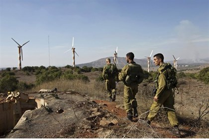 IDF patrol in Golan Heights