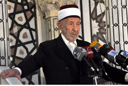 File photo of pro-Assad cleric Mohamed al-Bouti