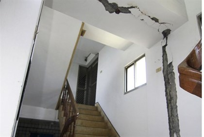 Earthquake damage in Tainwan