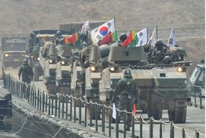 South Korean K-200 armoured vehicles