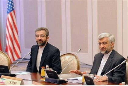 Iran's top nuclear negotiator Saeed Jalili meets with officials from World powers in Almaty
