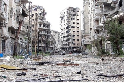 Destruction in Homs