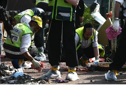 Aftermath of suicide bombing attack