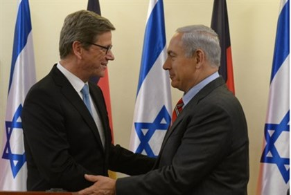 Prime Minister Binyamin Netanyahu and German Foreign Minister Guido Westerwelle