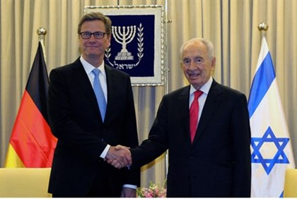President Shimon Peres and German Foreign Minister Guido Westerwelle