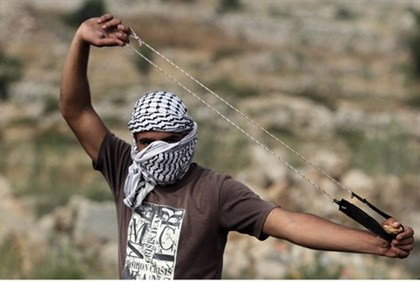 Rock-throwing terrorist