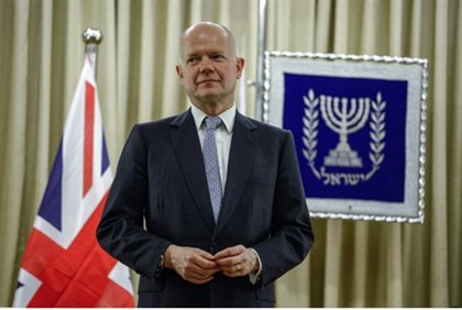British Foreign Secretary William Hague in Jerusalem