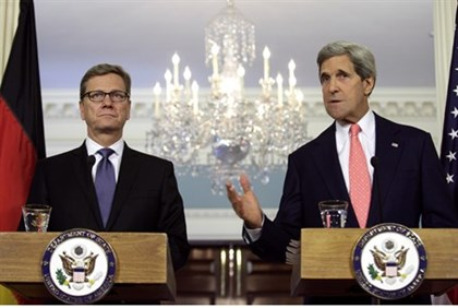 U.S. Secretary of State John Kerry and German Foreign Minister Guido Westerwelle