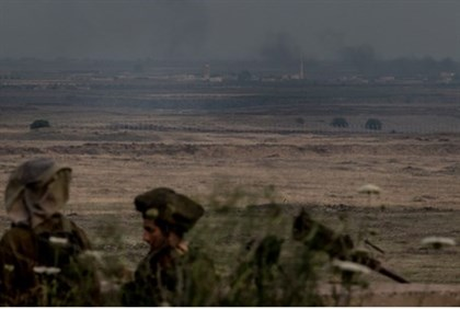 soldiers in Golan Heights