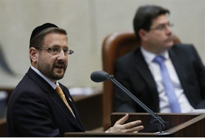 MK Lipman addresses Knesset
