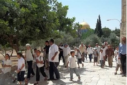 Children on the Temple Mount