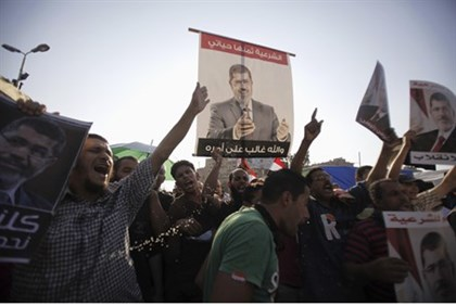 Morsi supporters protest at Rabaa Adawiya Square