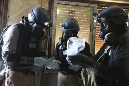 UN Chemical weapons experts inspecting site of attack in Syria