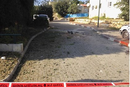 Site of Katyusha attack in northern Israel