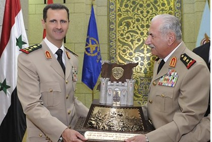 Assad and General Ali Habib