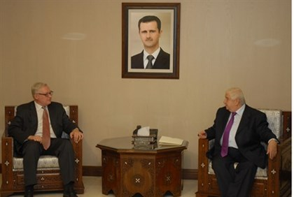 Ryabkov and Muallem in Damascus
