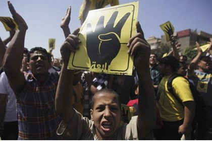 Muslim Brotherhood supporters in Cairo, September 13
