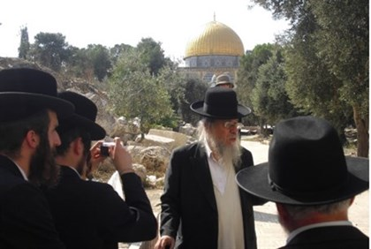 Rabbi Brand and followers on Temple Mount