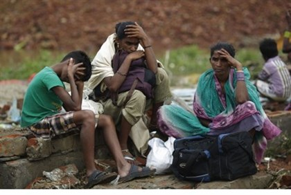 Survivors of Cyclone Phailin