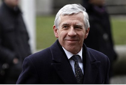 Former British Foreign Secretary Jack Straw
