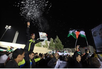 PA Arabs celebrate terrorist release in Ramallah