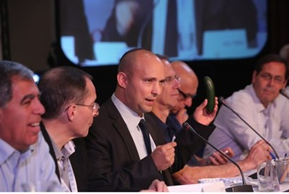 Naftali Bennett at the Caesarea Economic Conference in Eilat Thursday