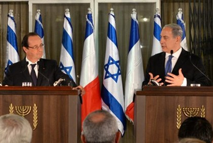 Netanyahu and Hollande (archive)