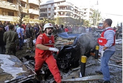 Scene of Beirut blasts