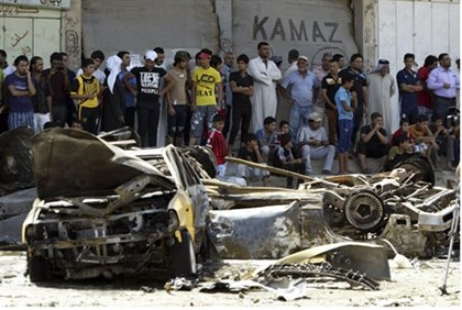 Illustration: Site of Al Qaeda bomb attack in Baghdad