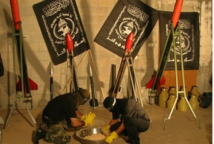 Illustration: Gaza terrorists manufacturing rockets