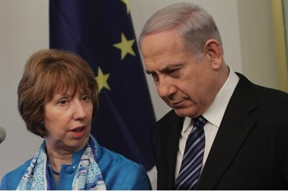PM Netanyahu with EU foreign policy chief Catherine Ashton