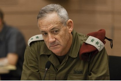 Benny Gantz, Shaked Committee meeting Nov. 27, 2013