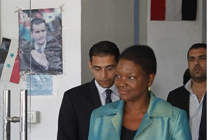 UN humanitarian chief Valerie Amos in Syria 2013