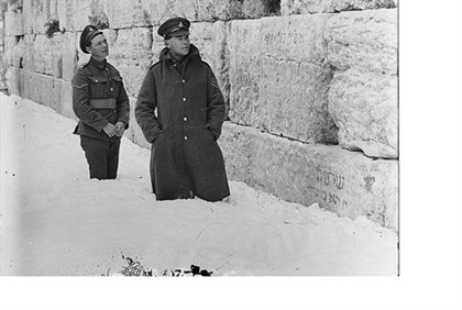 Snow at the Western Wall 1921