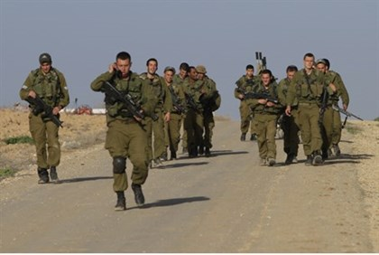 IDF on the Gaza border (file)