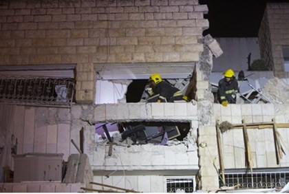Aftermath of gas explosion in Jerusalem