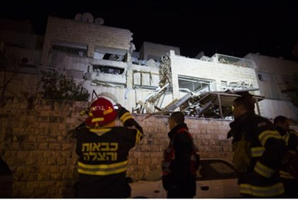 Scene of gas explosion in Jerusalem