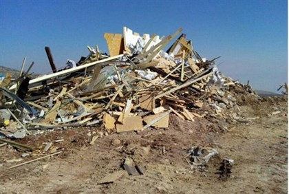 Scene of the demolition in Kida