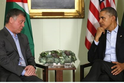 President Barack Obama meets with Jordan's King Abdullah