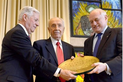 Peres  with presidents of Major American Jewish Organizations