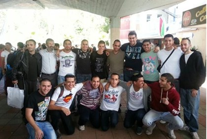 Hesder Yehiva students at the IDF Recruitment Center