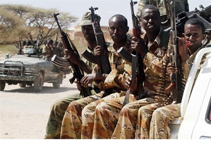 Somalian soldiers prepare for operations against Al Shabaab