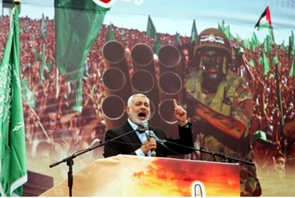 Ismail Haniyeh, at the rally