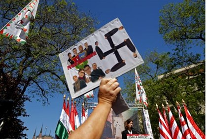 Jobbik supporters attend party rally, May 2013